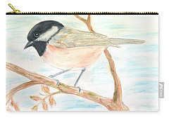 Carry-all Pouch featuring the painting Autumn Visitor by Stephanie Grant