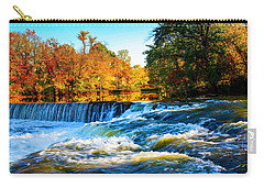 Amazing Autumn Flowing Waterfalls On The River  Carry-all Pouch