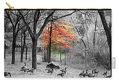 Autumn With A Touch Of Color Carry-all Pouch by Dora Sofia Caputo Photographic Art and Design