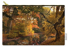 Carry-all Pouch featuring the photograph Autumn's Edge by Jessica Jenney