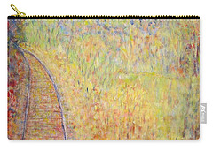 Autumns Maple Leaves And Train Tracks Carry-all Pouch