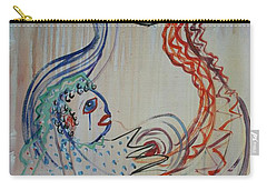 Carry-all Pouch featuring the painting Avi's Madonna by Avonelle Kelsey
