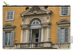 Carry-all Pouch featuring the photograph Awaiting The Pope by Robin Maria Pedrero