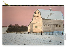 Award-winning Original Acrylic Painting - Nebraska Barn Carry-all Pouch