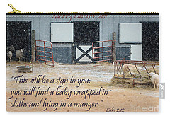 In A Manger Carry-all Pouch