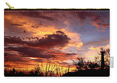 Carry-all Pouch featuring the photograph Az Monsoon Sunset by Elaine Malott