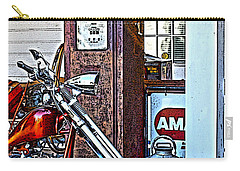 Carry-all Pouch featuring the photograph Aztec And The Gas Pump by Lesa Fine
