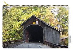 Babbs Covered Bridge Carry-all Pouch by Catherine Gagne