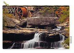 Carry-all Pouch featuring the photograph Babcock Grist Mill And Falls by Jerry Fornarotto