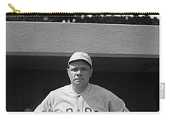Babe Ruth In Red Sox Uniform Carry-all Pouch by Underwood Archives