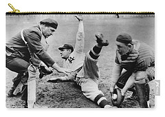 Babe Ruth Slides Home Carry-all Pouch by Underwood Archives