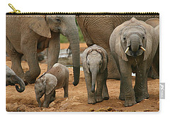 Baby African Elephants Carry-all Pouch