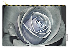 Carry-all Pouch featuring the photograph Baby Blue Rose by Savannah Gibbs