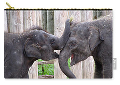 Baby Elephants - Bowie And Belle Carry-all Pouch by Pamela Critchlow