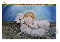 Baby Jesus Little Lamb Carry-all Pouch