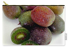 Baby Kiwi With Text Carry-all Pouch by Iris Richardson