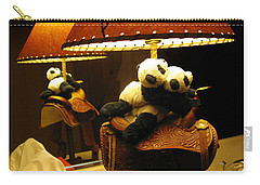 Baby Pandas In A Saddle  Carry-all Pouch