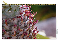 Baby White Pineapple Carry-all Pouch by Denise Bird
