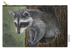 Baby Raccoon Carry-all Pouch by Crista Forest