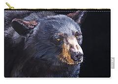 Back In Black Bear Carry-all Pouch by J W Baker
