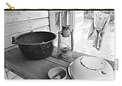 Back In Time B - W Carry-all Pouch by D Hackett