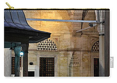 Carry-all Pouch featuring the photograph Back Lit Interior Of Mosque  by Imran Ahmed