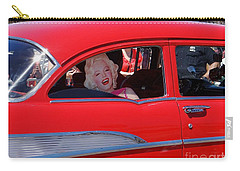 Carry-all Pouch featuring the photograph Back Seat Marilyn by Ed Weidman