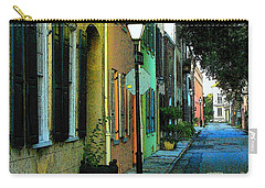 Carry-all Pouch featuring the photograph Back Street In Charleston by Rodney Lee Williams