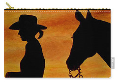 Carry-all Pouch featuring the painting Back To The Barn by Julie Brugh Riffey