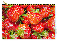 Carry-all Pouch featuring the photograph Background Of Strawberries by Kennerth and Birgitta Kullman