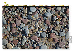Carry-all Pouch featuring the photograph Background Of Wet Pebbles And Sand by Kennerth and Birgitta Kullman