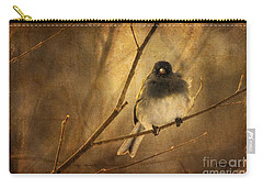 Backlit Birdie Being Buffeted  Carry-all Pouch by Lois Bryan