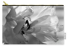 Backlit Black And White Tulip Carry-all Pouch