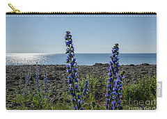 Backlit Blue Flowers  Carry-all Pouch