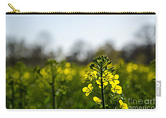 Backlit Canola Flower Carry-all Pouch