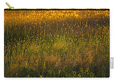 Carry-all Pouch featuring the photograph Backlit Meadow Grasses by Marty Saccone
