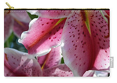 Carry-all Pouch featuring the photograph Backlit Spotted Daylilies by Michele Myers
