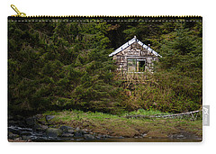 Backwoods Shack Carry-all Pouch by Melinda Ledsome
