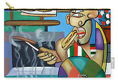 Carry-all Pouch featuring the painting Backyard Chef by Anthony Falbo
