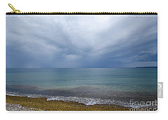 Carry-all Pouch featuring the photograph Bad Weather Approaching At The Coast by Kennerth and Birgitta Kullman