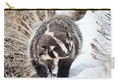 Badger In The Snow Carry-all Pouch