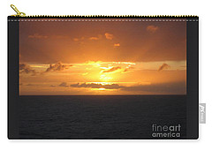 Carry-all Pouch featuring the photograph Bahamas Ocean Sunset by John Telfer