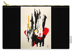 Carry-all Pouch featuring the painting Bahha No Koraru O Utau by Roberto Prusso