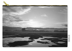 Carry-all Pouch featuring the photograph Bakersfield In Black And White by Meghan at FireBonnet Art