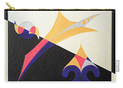 Carry-all Pouch featuring the painting Balancing Act by Ron Davidson