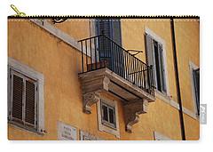 Balcony Piazza Della Madallena In Roma Carry-all Pouch by Dany Lison