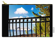 Carry-all Pouch featuring the photograph Balcony Scene by Amar Sheow