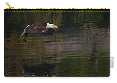 Carry-all Pouch featuring the photograph Bald Eagle #1307 by J L Woody Wooden