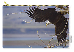 Carry-all Pouch featuring the photograph Bald Eagle  #3313 by J L Woody Wooden