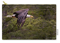 Carry-all Pouch featuring the photograph Bald Eagle   #6865 by J L Woody Wooden
